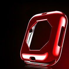 Ultra-thin Silicone Gel Soft Case Cover S01 for Apple iWatch 4 44mm Red
