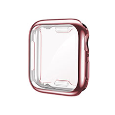 Ultra-thin Silicone Gel Soft Case Cover S01 for Apple iWatch 5 40mm Rose Gold