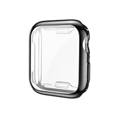 Ultra-thin Silicone Gel Soft Case Cover S01 for Apple iWatch 5 44mm Black