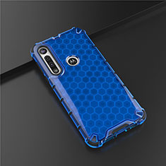 Ultra-thin Silicone Gel Soft Case Cover S01 for Motorola Moto G8 Play Blue