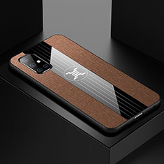 Ultra-thin Silicone Gel Soft Case Cover S01 for Samsung Galaxy A51 5G Brown