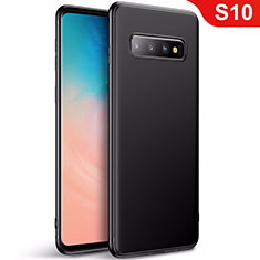 Ultra-thin Silicone Gel Soft Case Cover S01 for Samsung Galaxy S10 Black