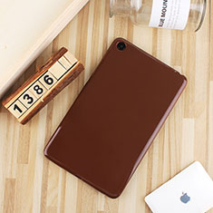 Ultra-thin Silicone Gel Soft Case Cover S01 for Xiaomi Mi Pad 4 Brown