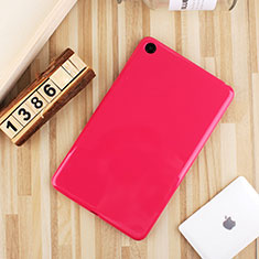Ultra-thin Silicone Gel Soft Case Cover S01 for Xiaomi Mi Pad 4 Hot Pink