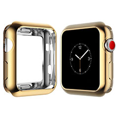 Ultra-thin Silicone Gel Soft Case Cover S02 for Apple iWatch 4 40mm Gold