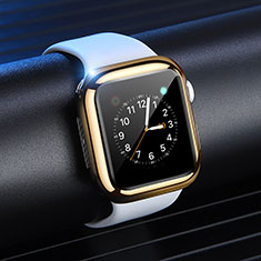 Ultra-thin Silicone Gel Soft Case Cover S03 for Apple iWatch 4 40mm Gold