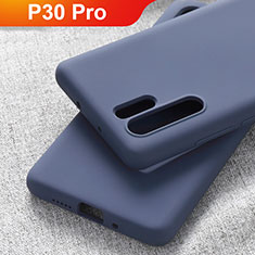 Ultra-thin Silicone Gel Soft Case Cover S03 for Huawei P30 Pro Blue