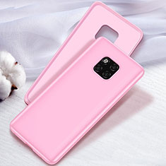 Ultra-thin Silicone Gel Soft Case Cover S04 for Huawei Mate 20 Pro Pink