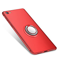 Ultra-thin Silicone Gel Soft Case Cover with Finger Ring Stand for Xiaomi Redmi Note 5A Standard Edition Red