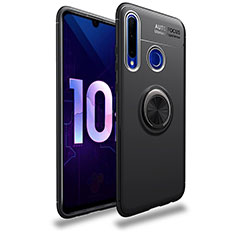 Ultra-thin Silicone Gel Soft Case Cover with Magnetic Finger Ring Stand A01 for Huawei Enjoy 9s Black
