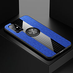 Ultra-thin Silicone Gel Soft Case Cover with Magnetic Finger Ring Stand A01 for Samsung Galaxy A51 5G Blue