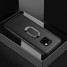 Ultra-thin Silicone Gel Soft Case Cover with Magnetic Finger Ring Stand for Huawei Mate 20 Pro Black