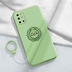 Ultra-thin Silicone Gel Soft Case Cover with Magnetic Finger Ring Stand for OnePlus 8T 5G Matcha Green