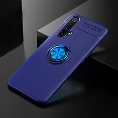 Ultra-thin Silicone Gel Soft Case Cover with Magnetic Finger Ring Stand for Realme X3 Blue