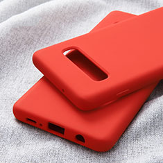 Ultra-thin Silicone Gel Soft Case for Samsung Galaxy S10 Plus Red