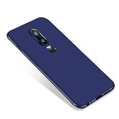 Ultra-thin Silicone Gel Soft Case S01 for OnePlus 6 Blue