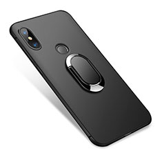 Ultra-thin Silicone Gel Soft Case with Finger Ring Stand for Xiaomi Redmi Note 5 Pro Black
