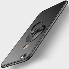 Ultra-thin Silicone Gel Soft Case with Finger Ring Stand for Xiaomi Redmi Note 5A Pro Black