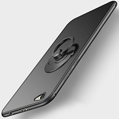 Ultra-thin Silicone Gel Soft Case with Finger Ring Stand for Xiaomi Redmi Note 5A Standard Edition Black