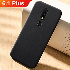 Ultra-thin Silicone Gel Soft Matte Finish Front and Back Case 360 Degrees Cover for Nokia 6.1 Plus Black