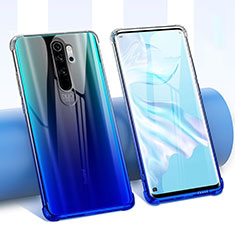 Ultra-thin Transparent Flowers Soft Case Cover for Xiaomi Redmi Note 8 Pro Blue