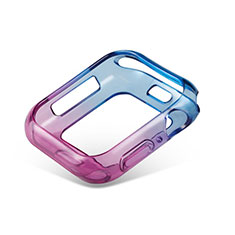Ultra-thin Transparent Gel Gradient Soft Case Cover G01 for Apple iWatch 5 40mm Blue