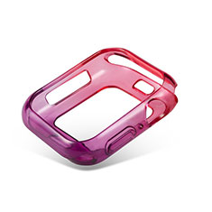 Ultra-thin Transparent Gel Gradient Soft Case Cover G01 for Apple iWatch 5 40mm Red