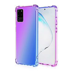 Ultra-thin Transparent Gel Gradient Soft Case Cover G01 for Samsung Galaxy S20 Ultra 5G Purple