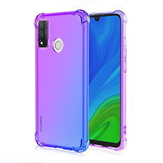 Ultra-thin Transparent Gel Gradient Soft Case Cover H01 for Huawei P Smart (2020) Blue