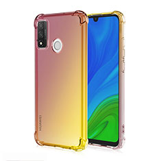 Ultra-thin Transparent Gel Gradient Soft Case Cover H01 for Huawei P Smart (2020) Brown