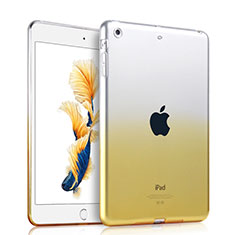 Ultra-thin Transparent Gel Gradient Soft Case for Apple iPad Air Yellow