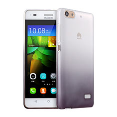 Ultra-thin Transparent Gel Gradient Soft Case for Huawei G Play Mini Gray