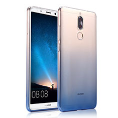 Ultra-thin Transparent Gel Gradient Soft Case for Huawei G10 Blue