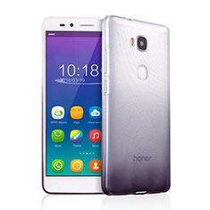 Ultra-thin Transparent Gel Gradient Soft Case for Huawei GR5 Gray