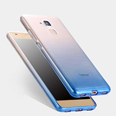 Ultra-thin Transparent Gel Gradient Soft Case for Huawei GT3 Blue
