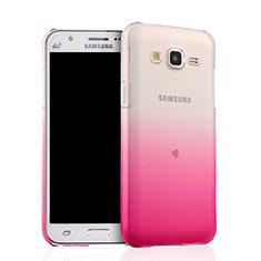 Ultra-thin Transparent Gel Gradient Soft Case for Samsung Galaxy J5 SM-J500F Pink