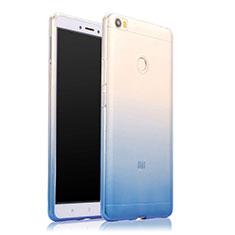 Ultra-thin Transparent Gel Gradient Soft Case for Xiaomi Mi Max Blue