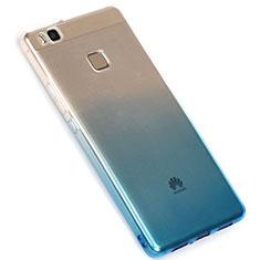 Ultra-thin Transparent Gel Gradient Soft Case G01 for Huawei G9 Lite Blue