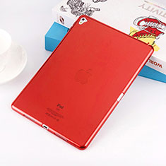 Ultra-thin Transparent Gel Soft Case for Apple iPad Pro 9.7 Red