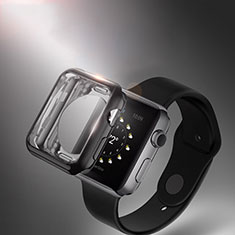 Ultra-thin Transparent Gel Soft Case for Apple iWatch 3 42mm Black