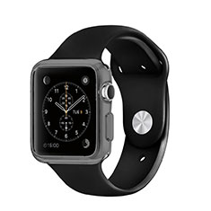 Ultra-thin Transparent Gel Soft Case for Apple iWatch 3 42mm Gray