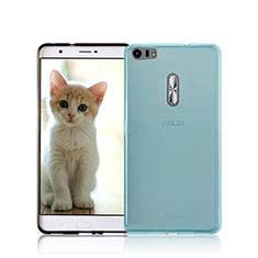 Ultra-thin Transparent Gel Soft Case for Asus Zenfone 3 Ultra ZU680KL Blue