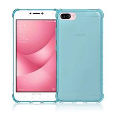 Ultra-thin Transparent Gel Soft Case for Asus Zenfone 4 Max ZC554KL Blue
