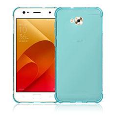 Ultra-thin Transparent Gel Soft Case for Asus Zenfone 4 Selfie ZD553KL Blue