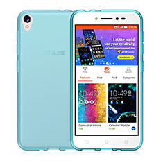 Ultra-thin Transparent Gel Soft Case for Asus Zenfone Live ZB501KL Blue