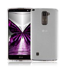 Ultra-thin Transparent Gel Soft Case for LG Stylus 2 Plus White
