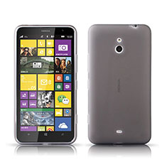 Ultra-thin Transparent Gel Soft Case for Nokia Lumia 1320 Gray