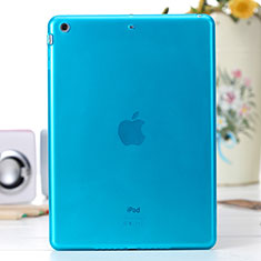 Ultra-thin Transparent Gel Soft Cover for Apple iPad Air Blue
