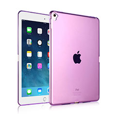 Ultra-thin Transparent Gel Soft Cover for Apple iPad Pro 9.7 Purple