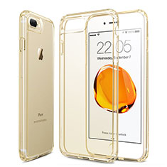 Ultra-thin Transparent Gel Soft Cover for Apple iPhone 7 Plus Gold